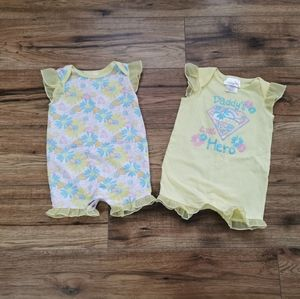 Other - Baby Girl Super Hero Rompers